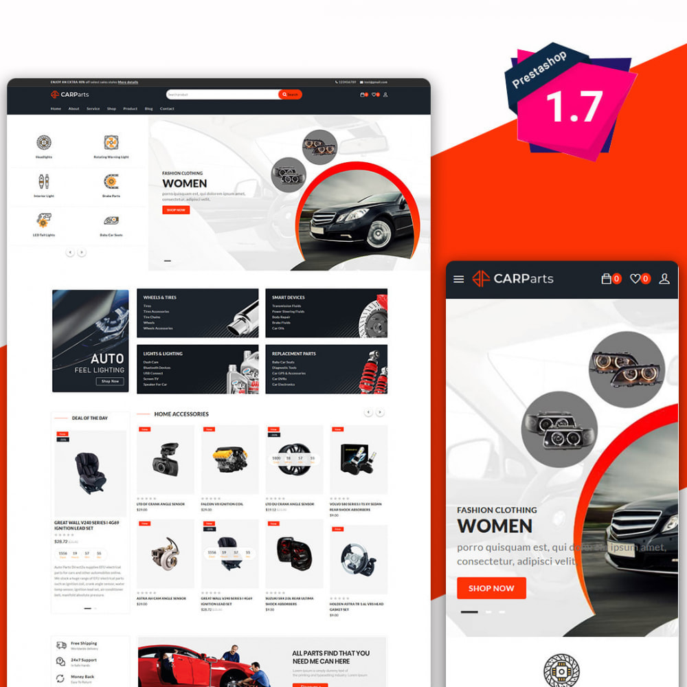 theme - Samochody - Carparts - The auto, car parts store - 2