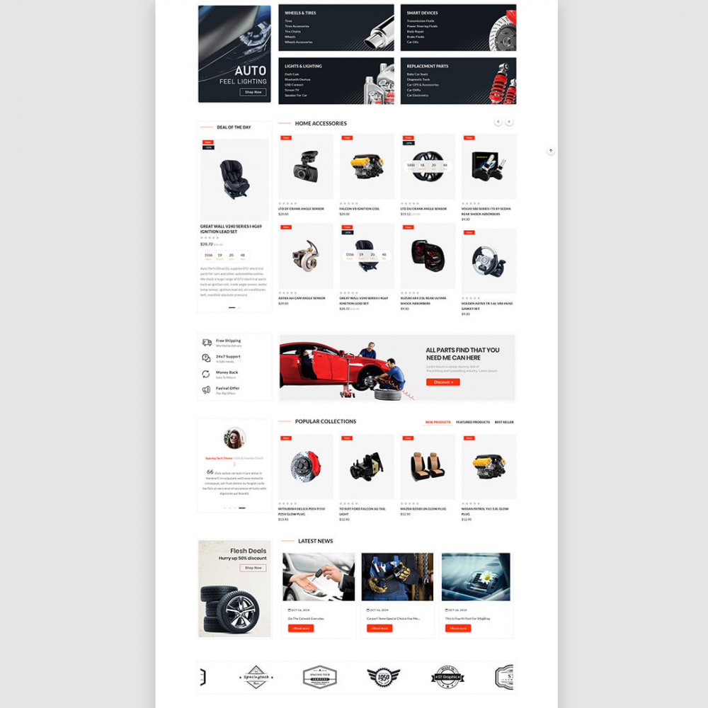 theme - Samochody - Carparts - The auto, car parts store - 4