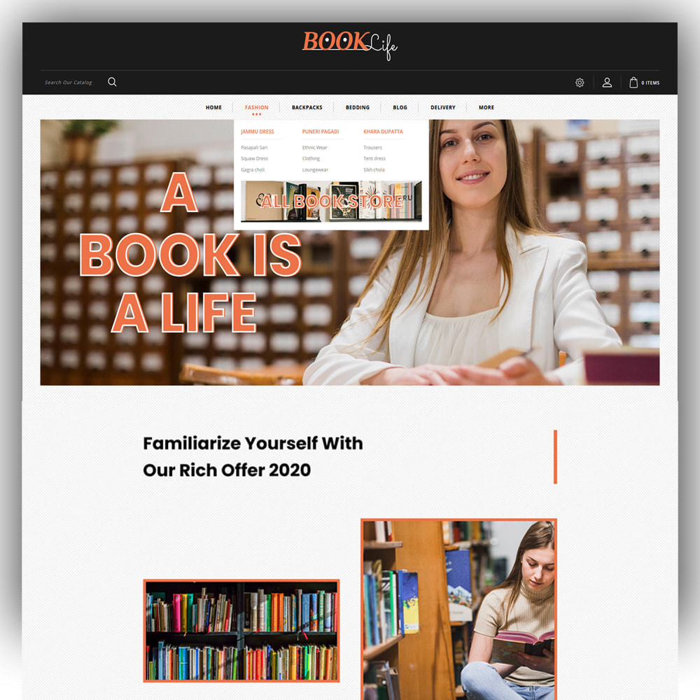 theme - Sports, Activities & Travel - Booklife - Book Store - 2