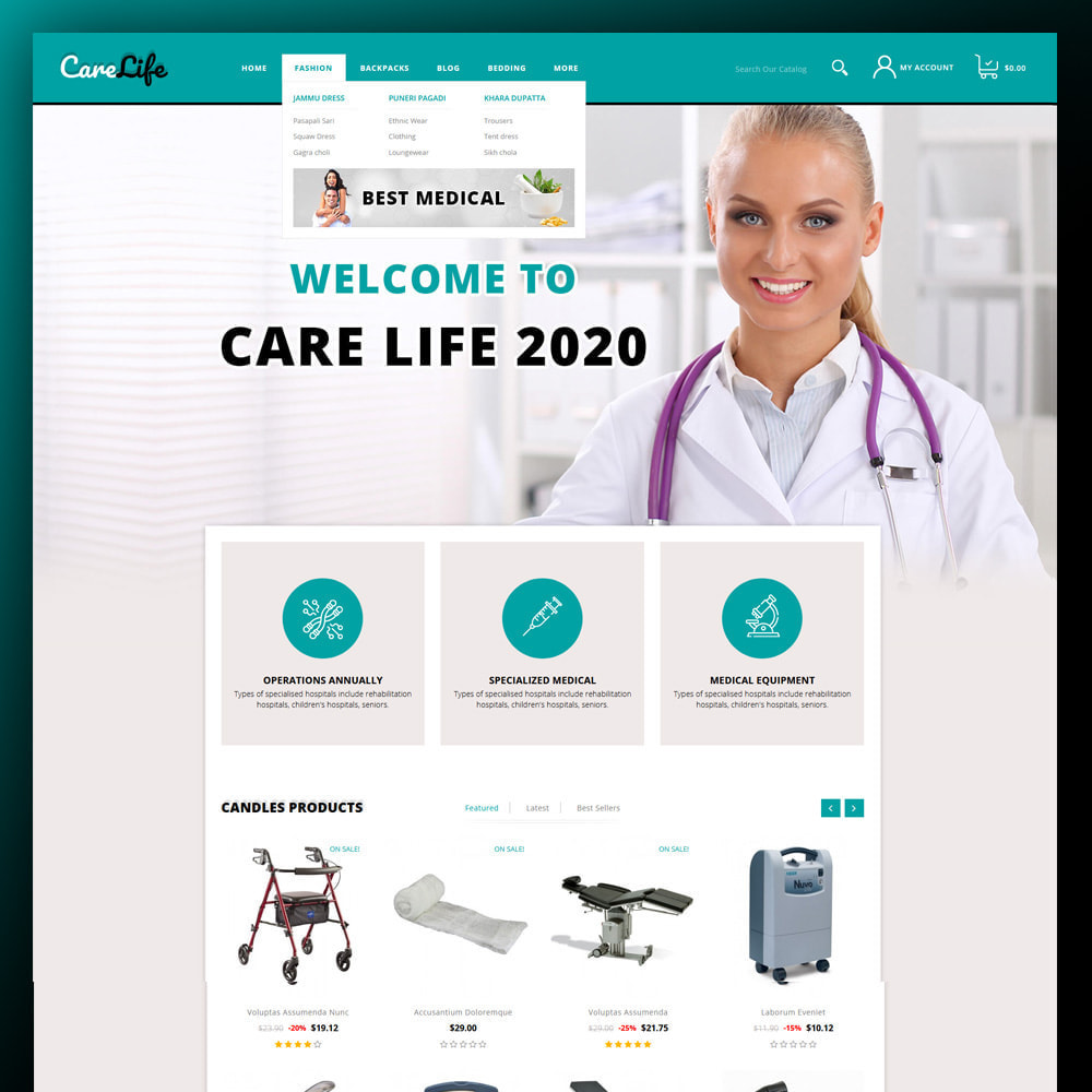 theme - Salud y Belleza - Carelife - Medical Store - 2
