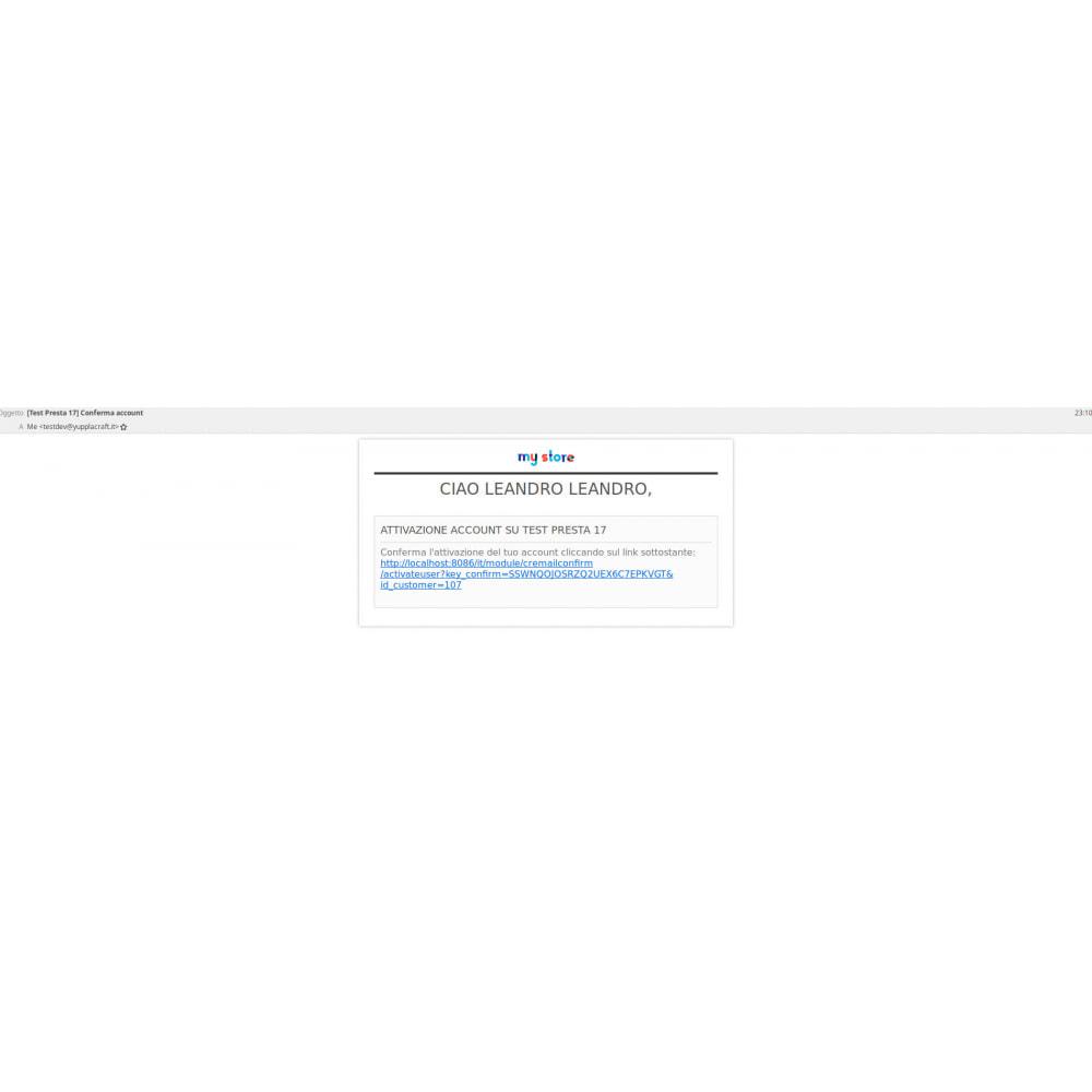 module - Sécurité & Accès - Confirmation email after registration User - 5