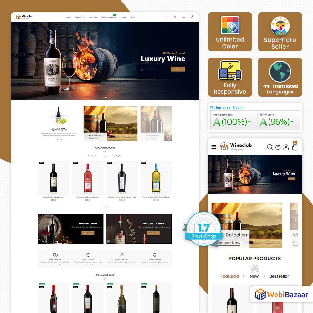 theme - Bebidas & Tabaco - WineClub - Wine - Drinks & Bar - 1