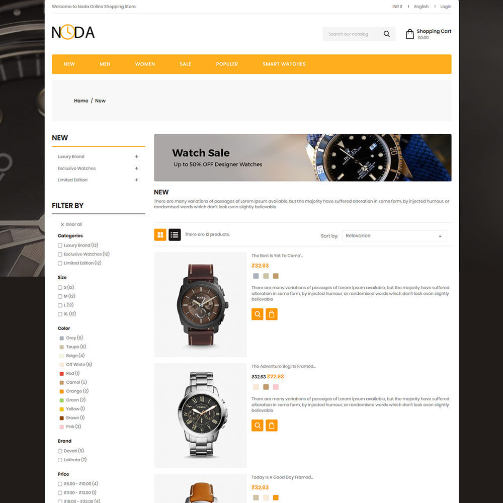 theme - Fashion & Shoes - Noda Fashion - watch Clothes Designer Store - 3
