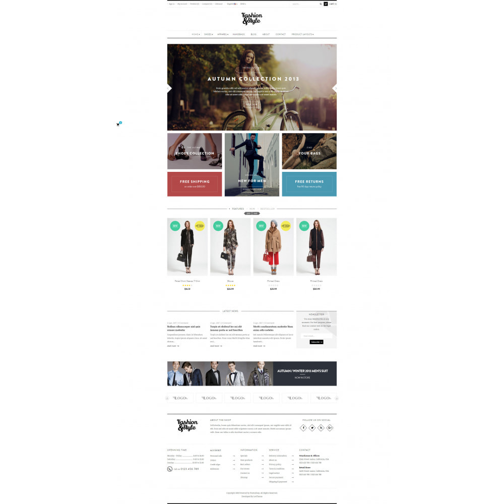 theme - Mode & Schuhe - Leo Fashion Store Prestashop - 3