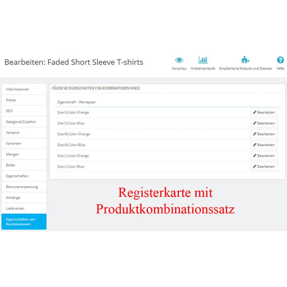 module - Bundels & Personalisierung - Eigenschaften von Produktkombination CombiFeatures - 3