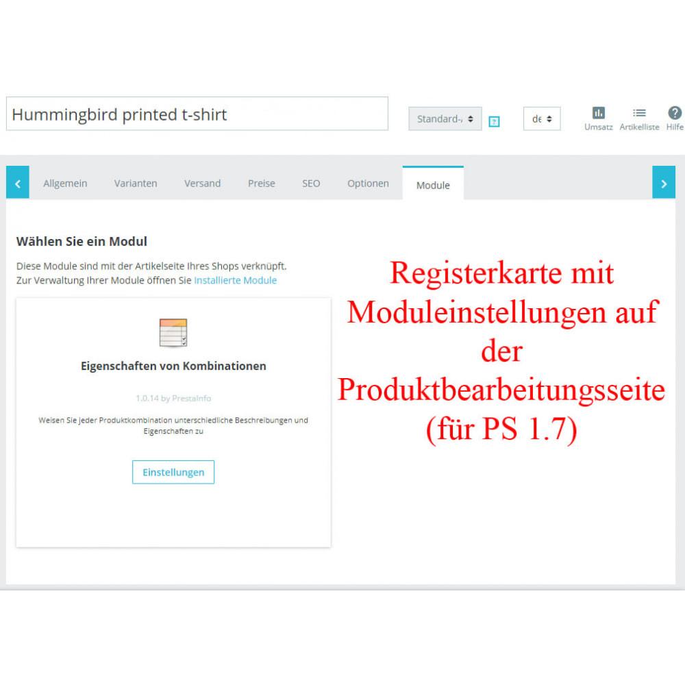 module - Bundels & Personalisierung - Eigenschaften von Produktkombination CombiFeatures - 4