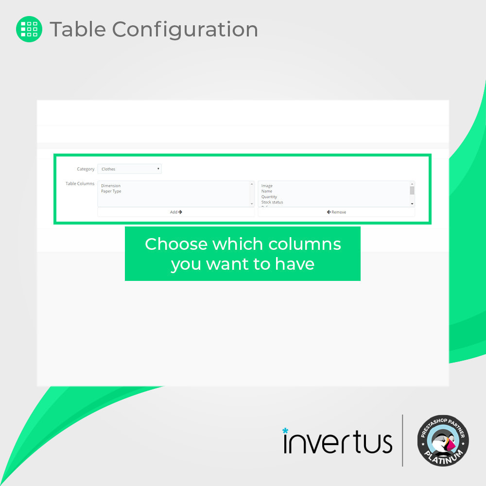 module - Deklinacje & Personalizacja produktów - Attribute Table Simple - For Product - 5