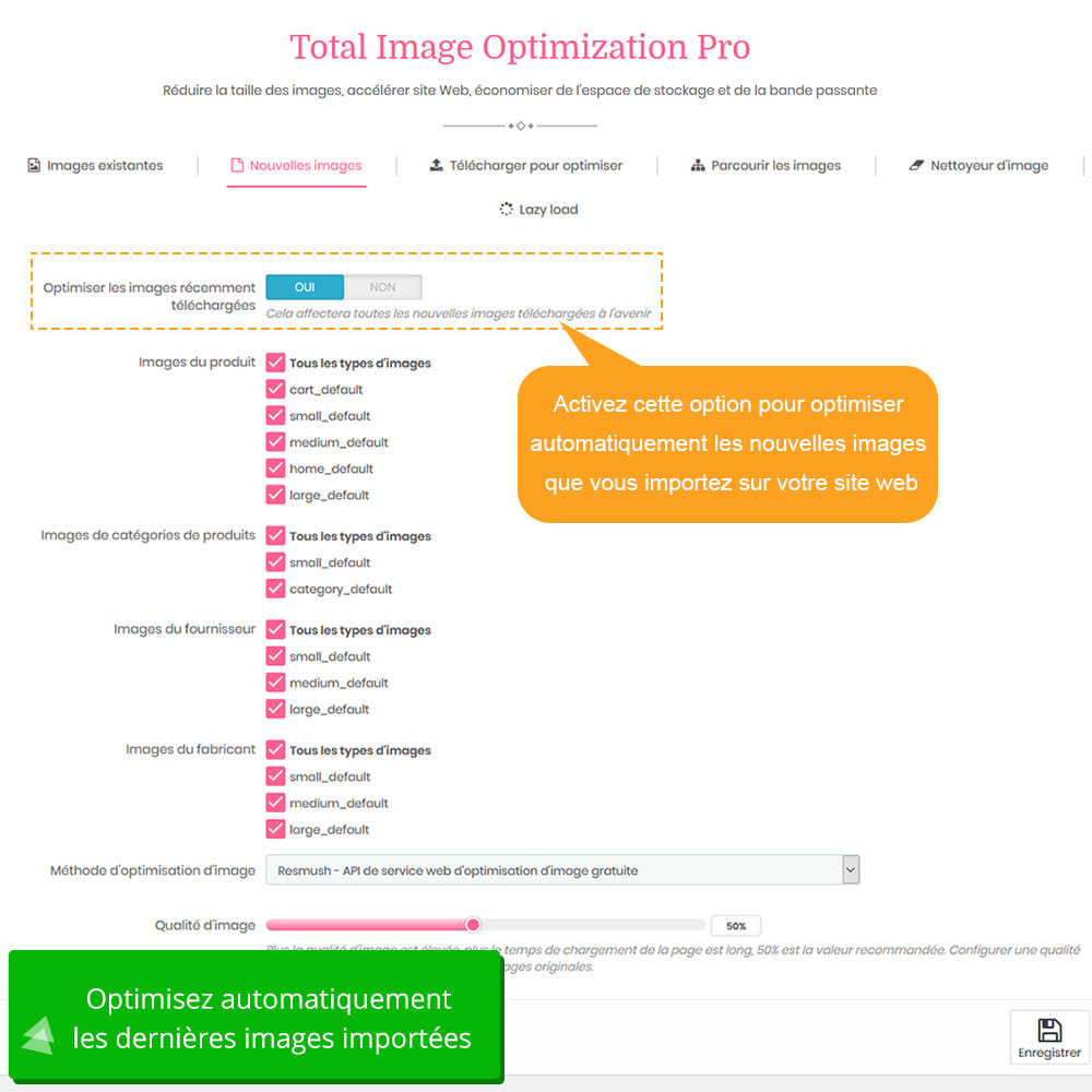 module - Performance du Site - Image Optimization Pro - Compression sans perte - 6