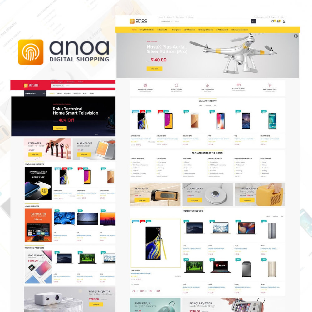 theme - Электроника и компьютеры - Anoa - Powerful Suppermarket and Digital Store - 1