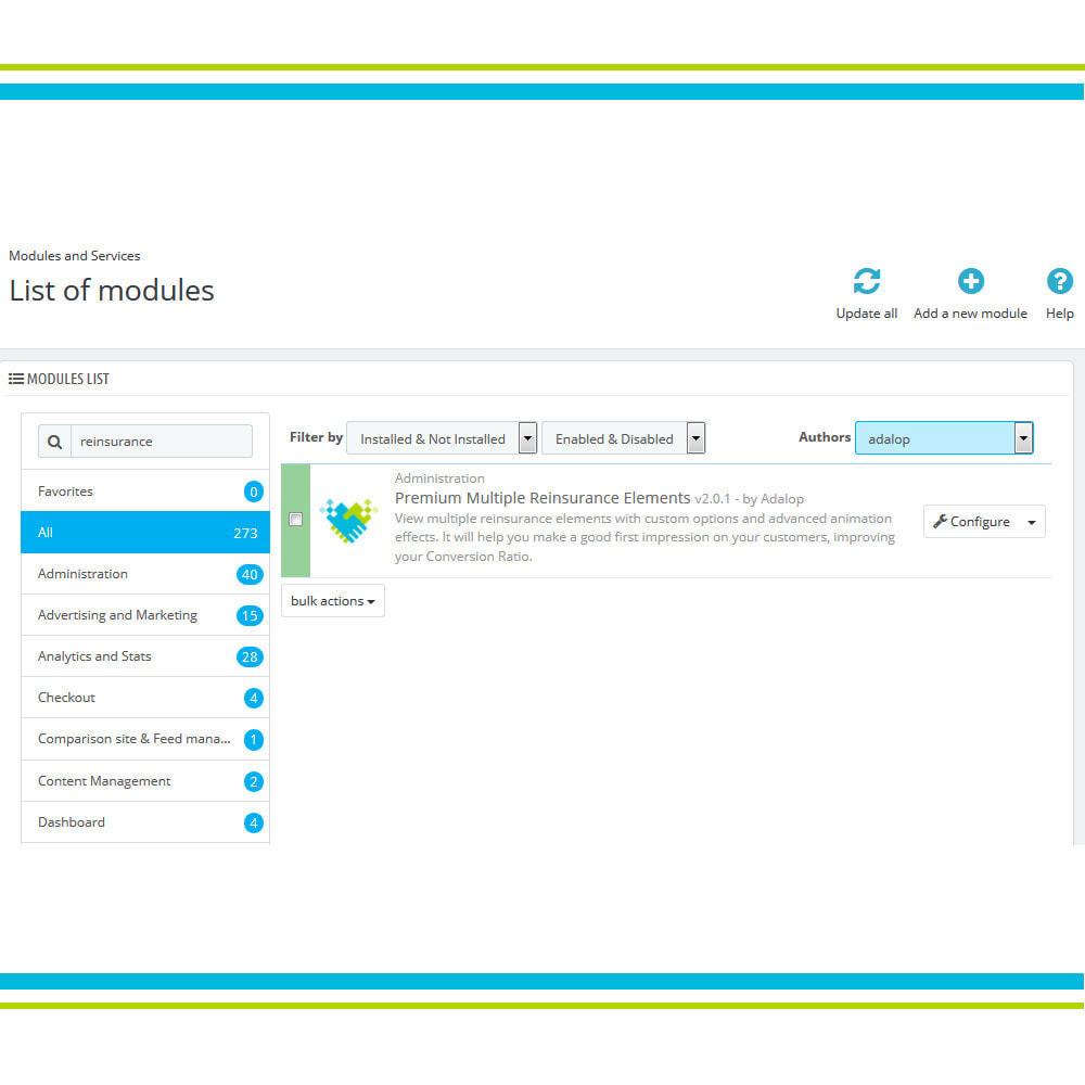 module - Personalização de página - Premium Multiple Reinsurance Elements - 3