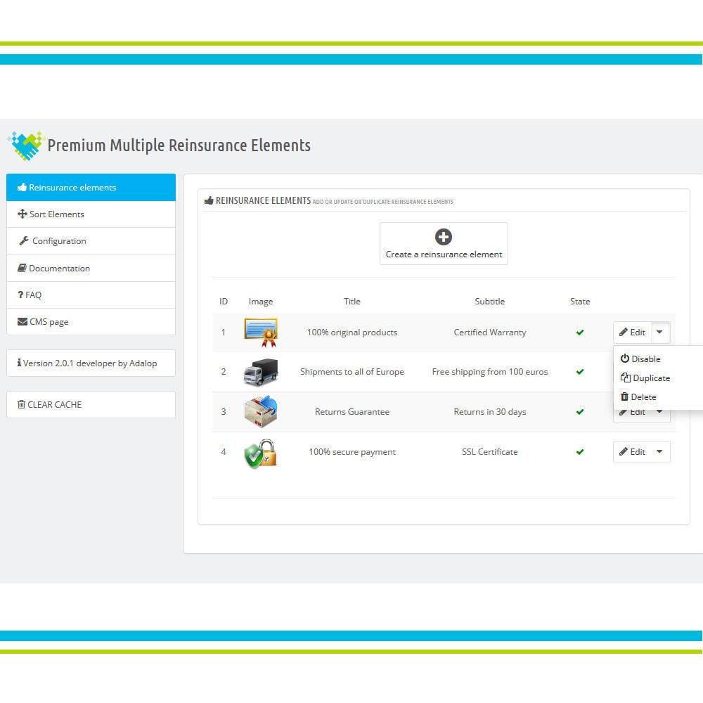 module - Personalização de página - Premium Multiple Reinsurance Elements - 4