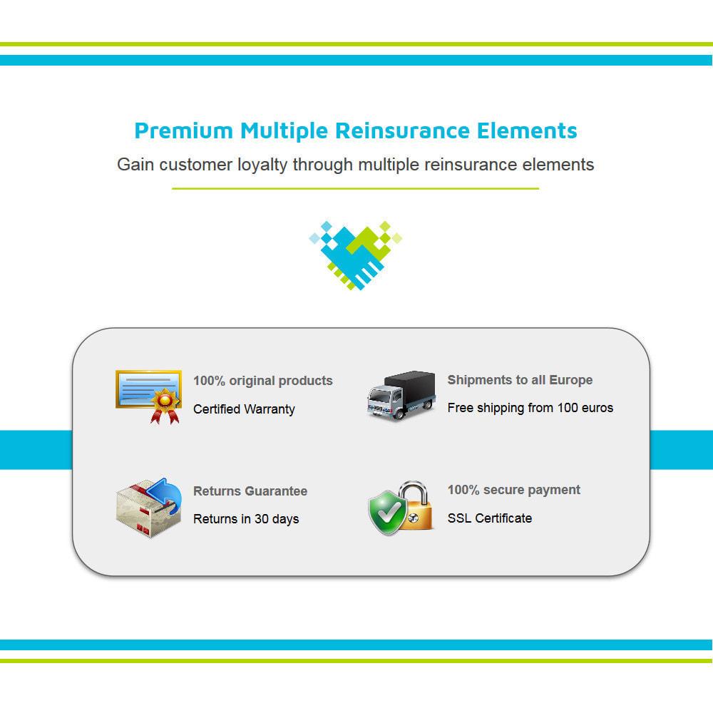 module - Personnalisation de Page - Ajouter de multiples éléments de réassurance animés - 2