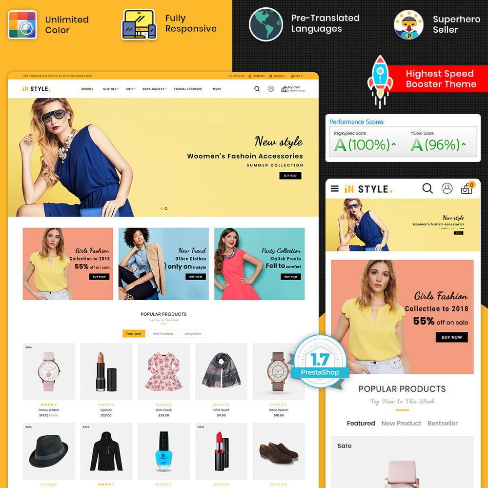 theme - Fashion & Shoes - InStyle - The Best Fashion Store - 1