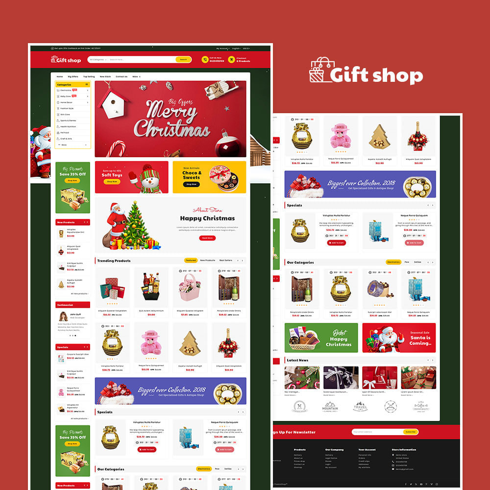 theme - Cadeaus, Bloemen & Gelegenheden - Gift & Articles Shop - 2
