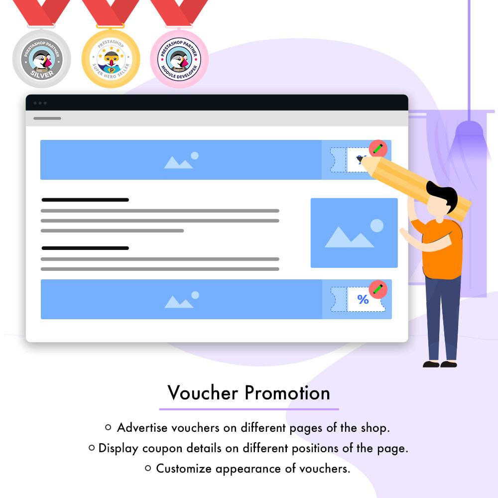 module - Promotions & Cadeaux - Voucher Promotion | Coupon Advertisement - 1
