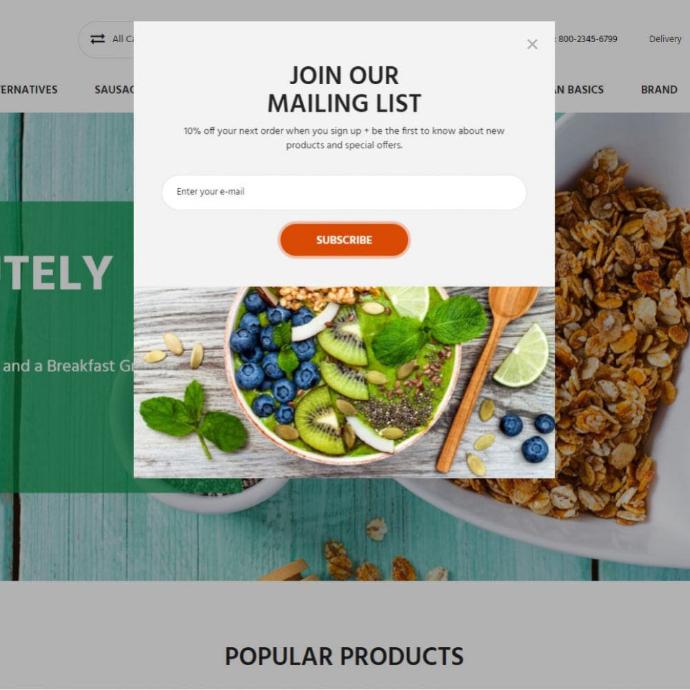 theme - Lebensmittel & Restaurants - Almonds - Vegan Shop - 3