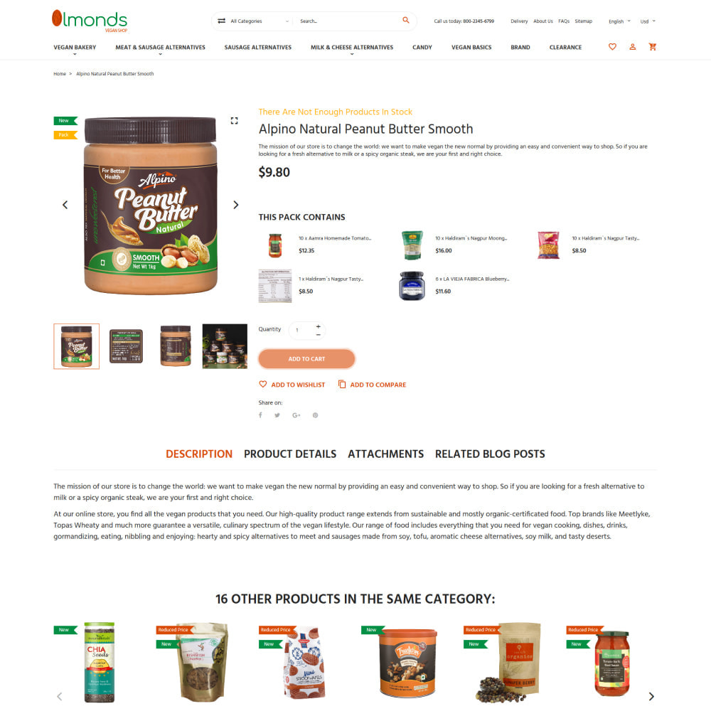 theme - Lebensmittel & Restaurants - Almonds - Vegan Shop - 4