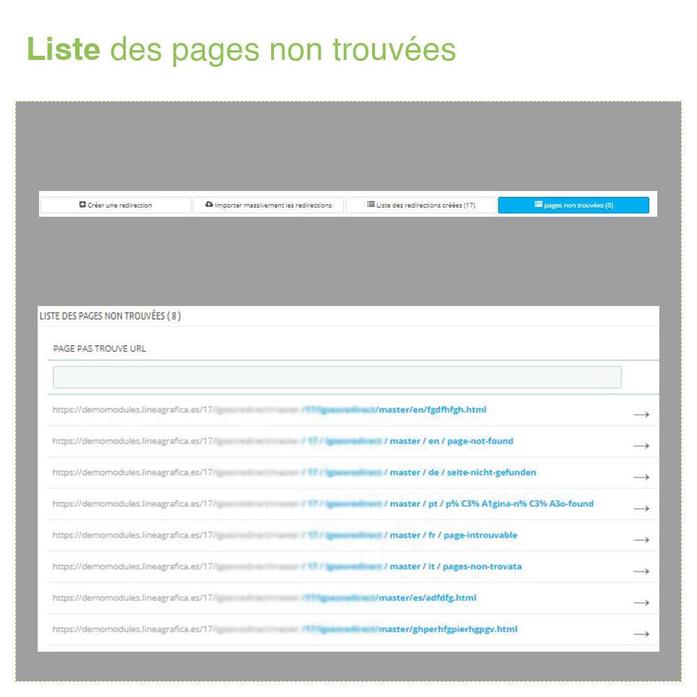 module - URL & Redirections - Redirections 301, 302, 303 des URLs et 404 - SEO - 6