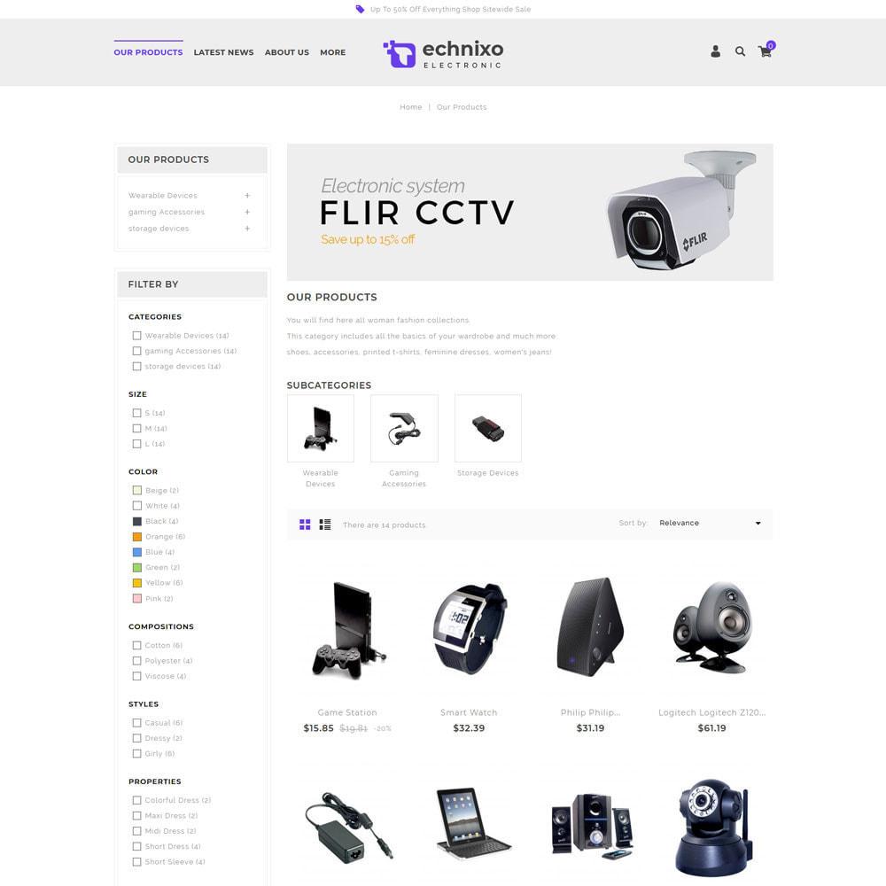 theme - Electrónica e High Tech - Technixo - La tienda electrónica - 5