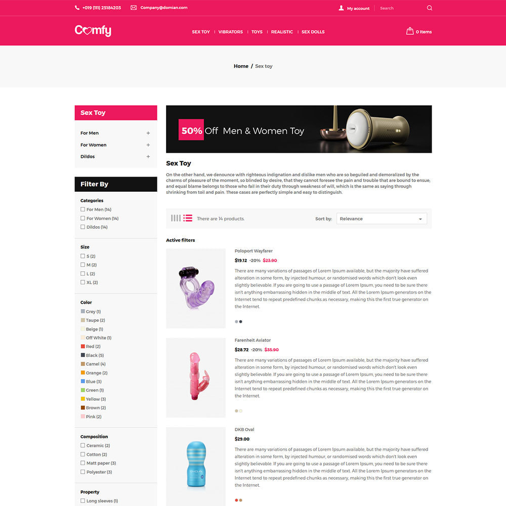 theme - Lenceria y Adultos - Comfort Adult - Sex Toys Pleasure Store - 5