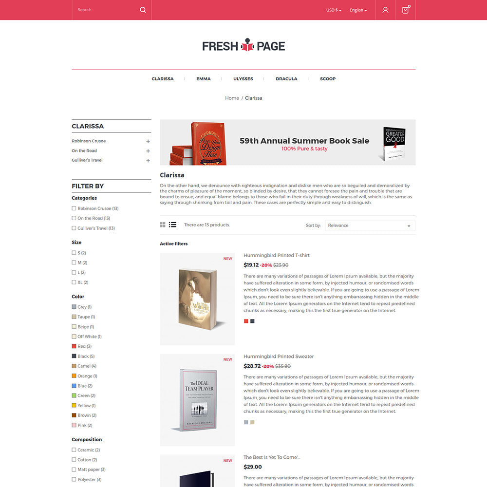 theme - Art & Culture - Fresh Page Book - Bibliothèque Ebook Store - 5