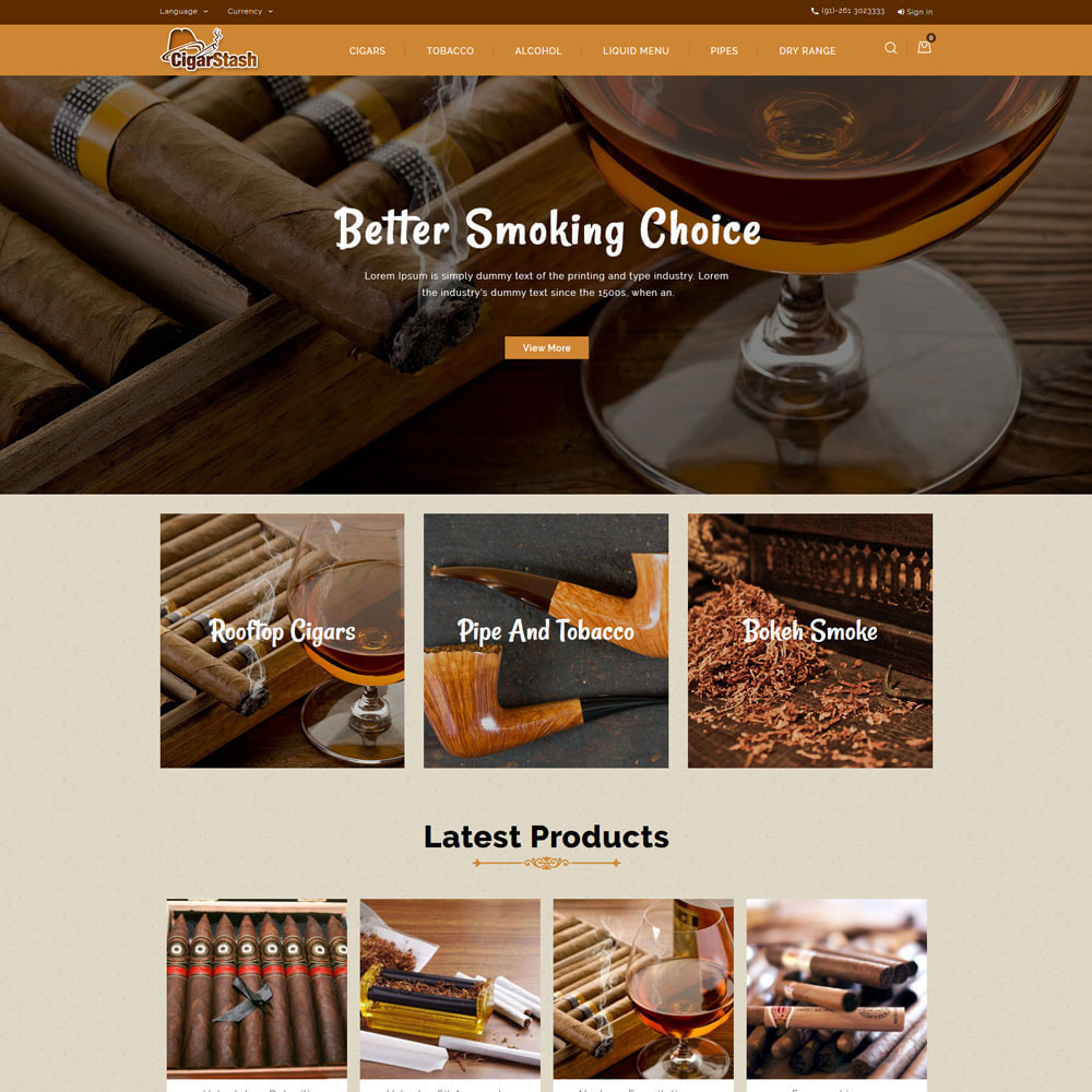 theme - Drink & Tobacco - CigarStash Store - 3