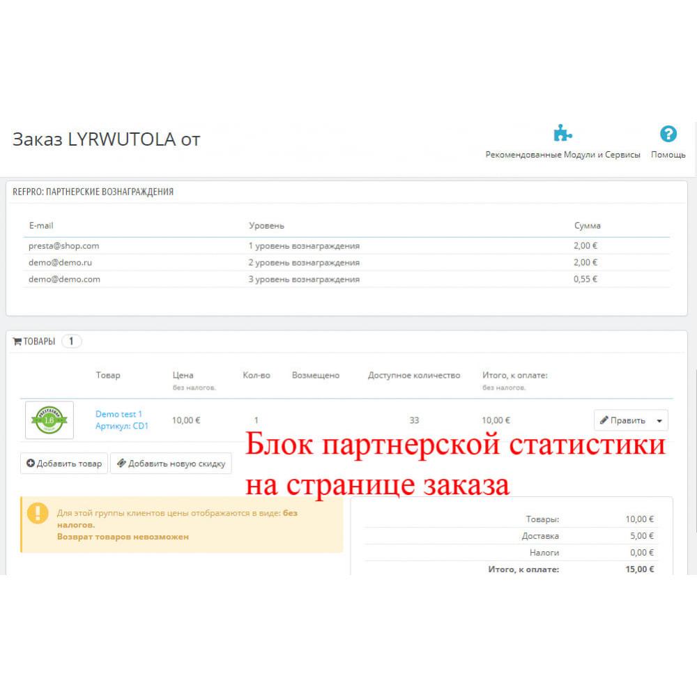 module - Платная поисковая оптимизация - Расширенная партнерская программа RefPRO - 12