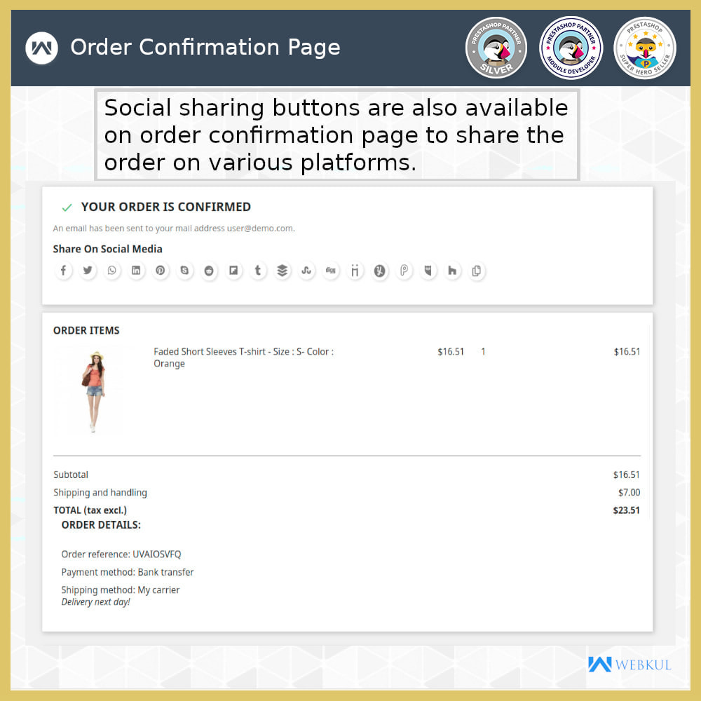 module - Compartir contenidos y Comentarios - Product and Order Social Share - 3