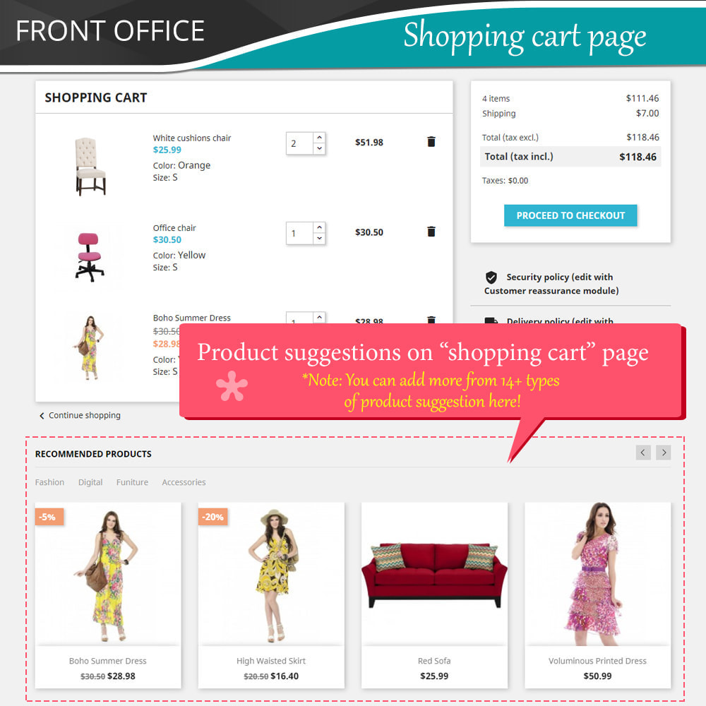 module - Kruisverkoop & Pakketaanbiedingen - Cross Selling Pro - Upsell - Shopping cart & all pages - 5