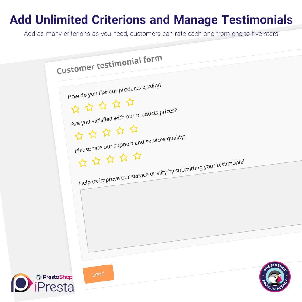 module - Comentarios de clientes - Testimonials + Google Richsnippets (Schema Markup) - 4