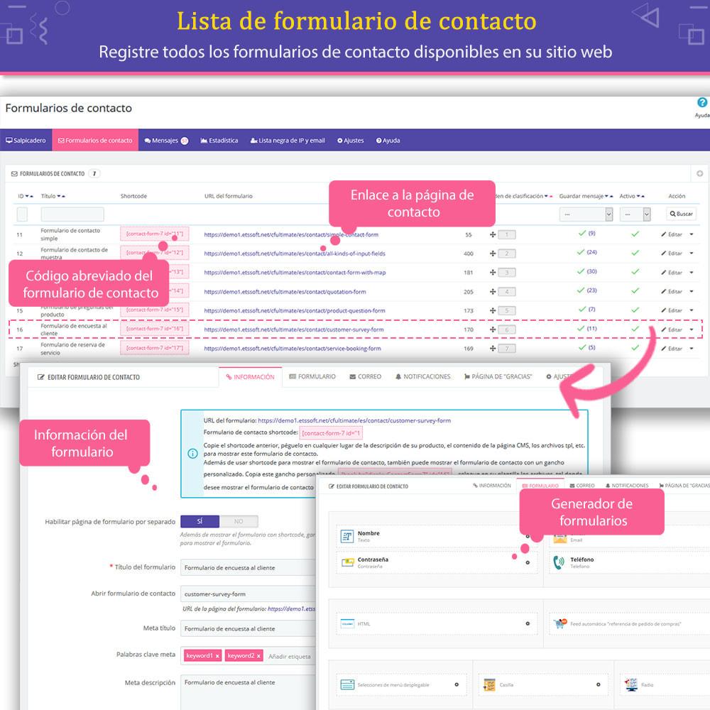 module - Formulario de contacto y Sondeos - Contact Form Ultimate: Arrastra y suelta formularios - 7