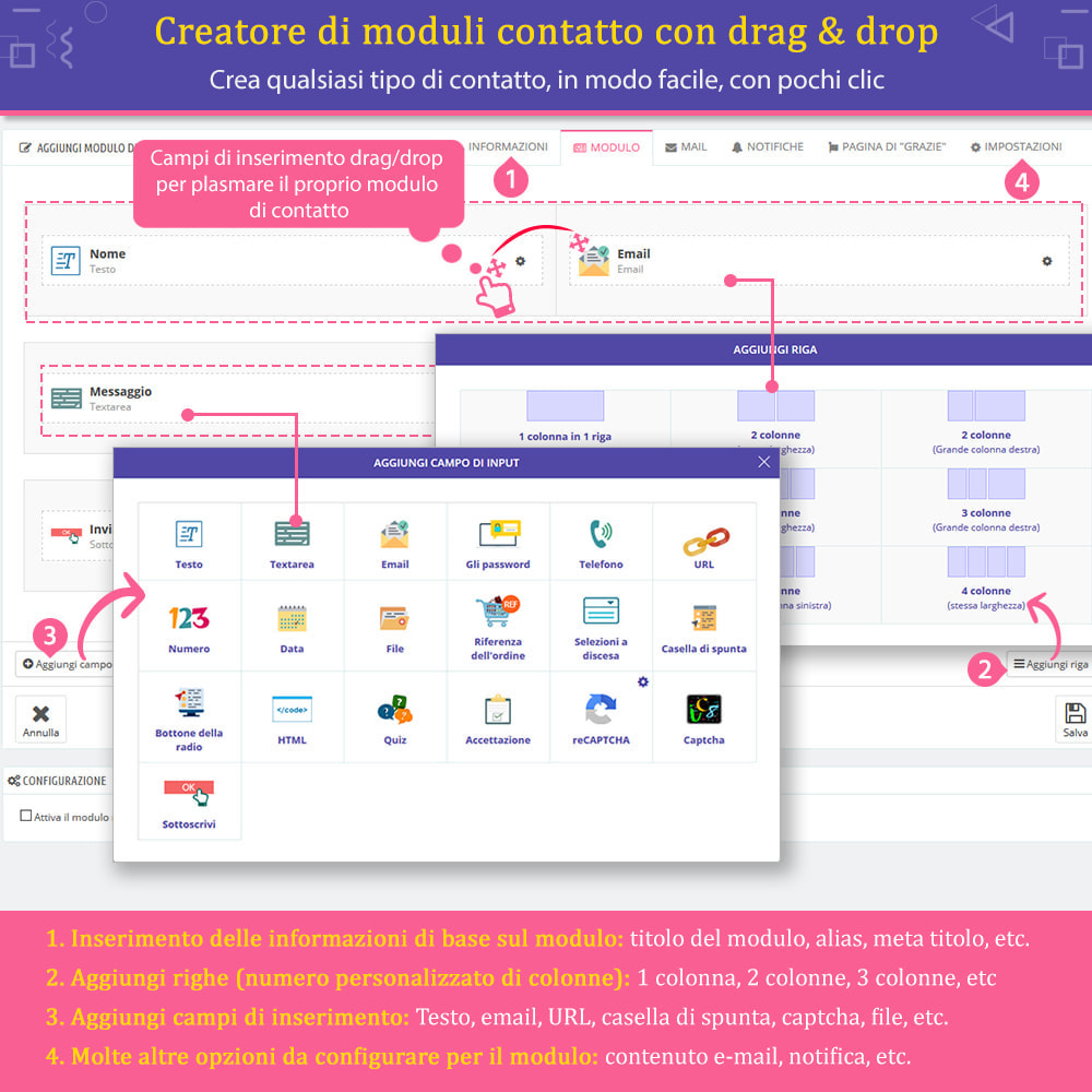 "module - Form di contatto & Questionari - Contact Form Ultimate – Creatore moduli ""Drag & drop"" - 2"