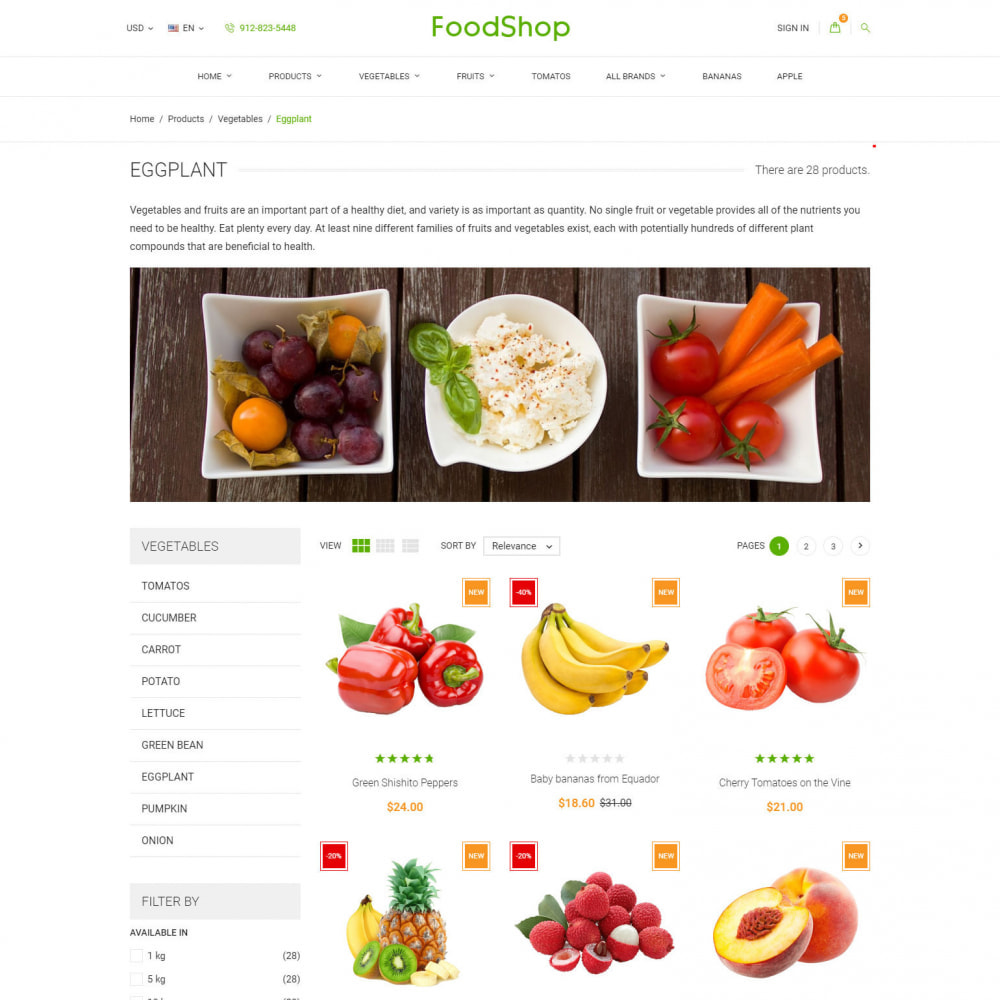 theme - Lebensmittel & Restaurants - Organic Garden - Food Store - 3