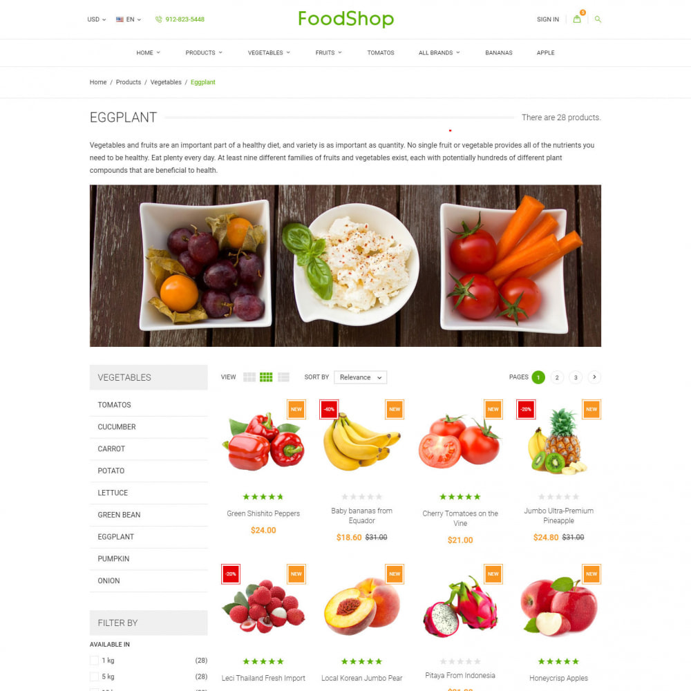 theme - Lebensmittel & Restaurants - Organic Garden - Food Store - 4
