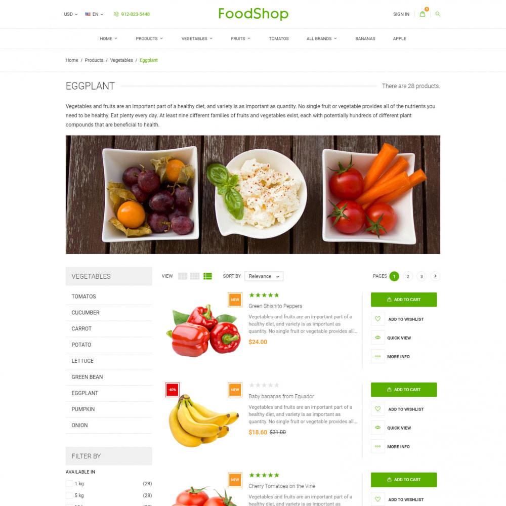 theme - Lebensmittel & Restaurants - Organic Garden - Food Store - 5