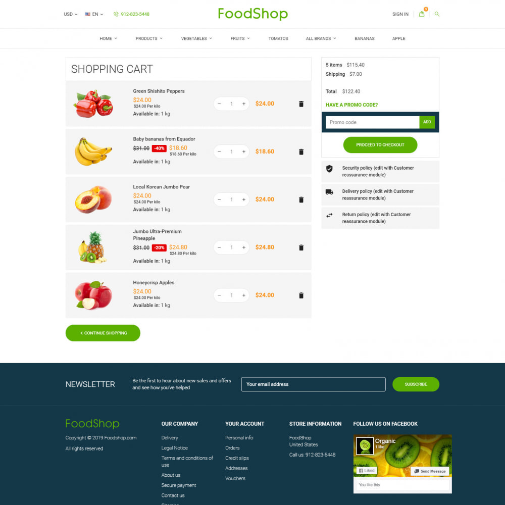 theme - Lebensmittel & Restaurants - Organic Garden - Food Store - 8