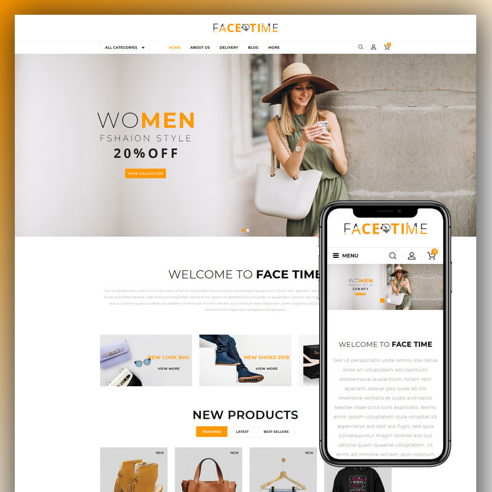 theme - Мода и обувь - Facetime - Online Fashion Store - 1