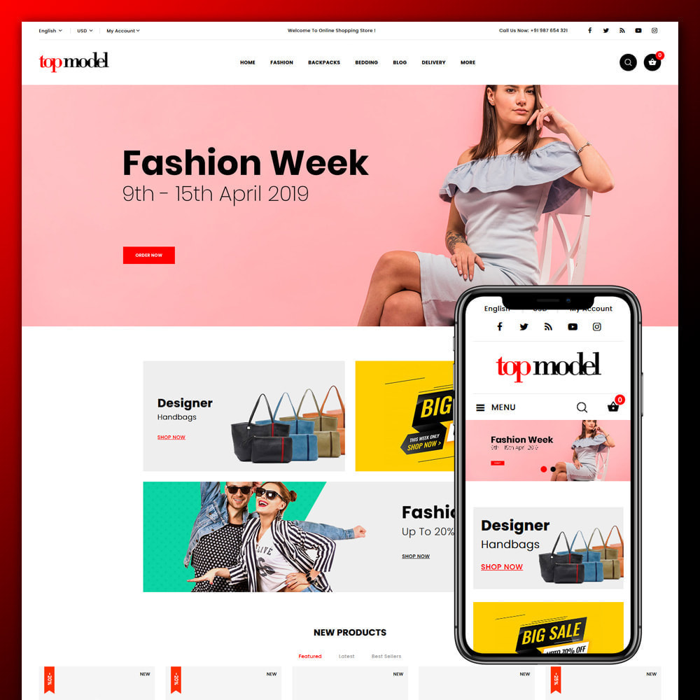 theme - Fashion & Shoes - Top Model - Fashion Store - 1