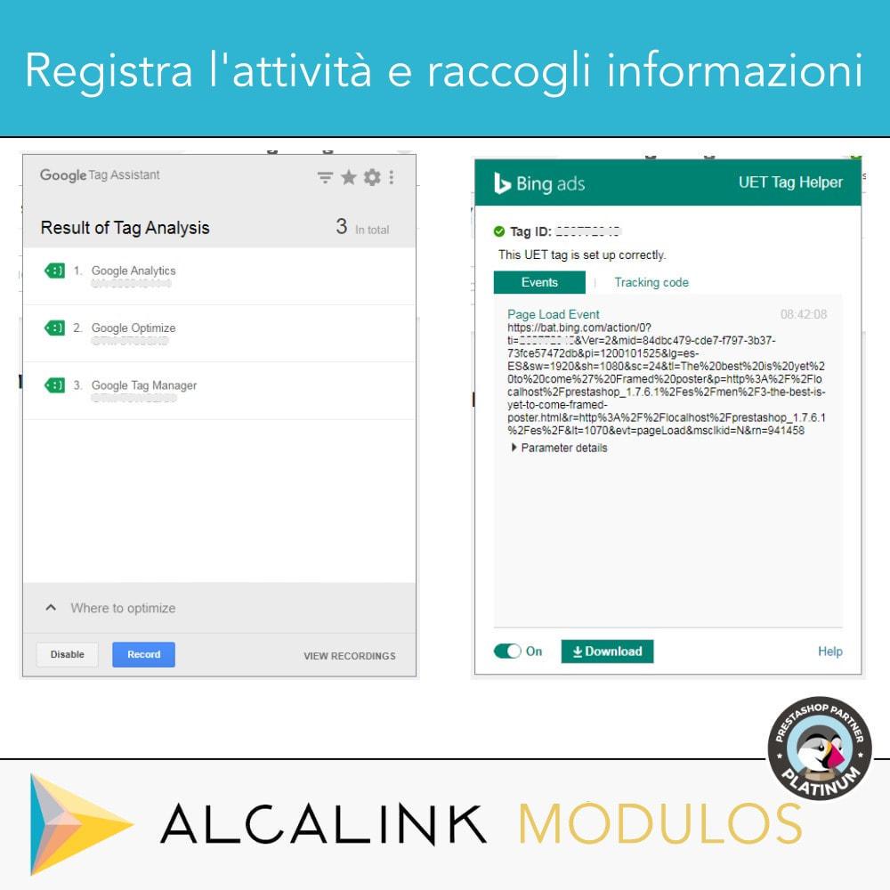 module - Analytics & Statistiche - Google Tag Manager + complementi. Attività dell'utente - 10