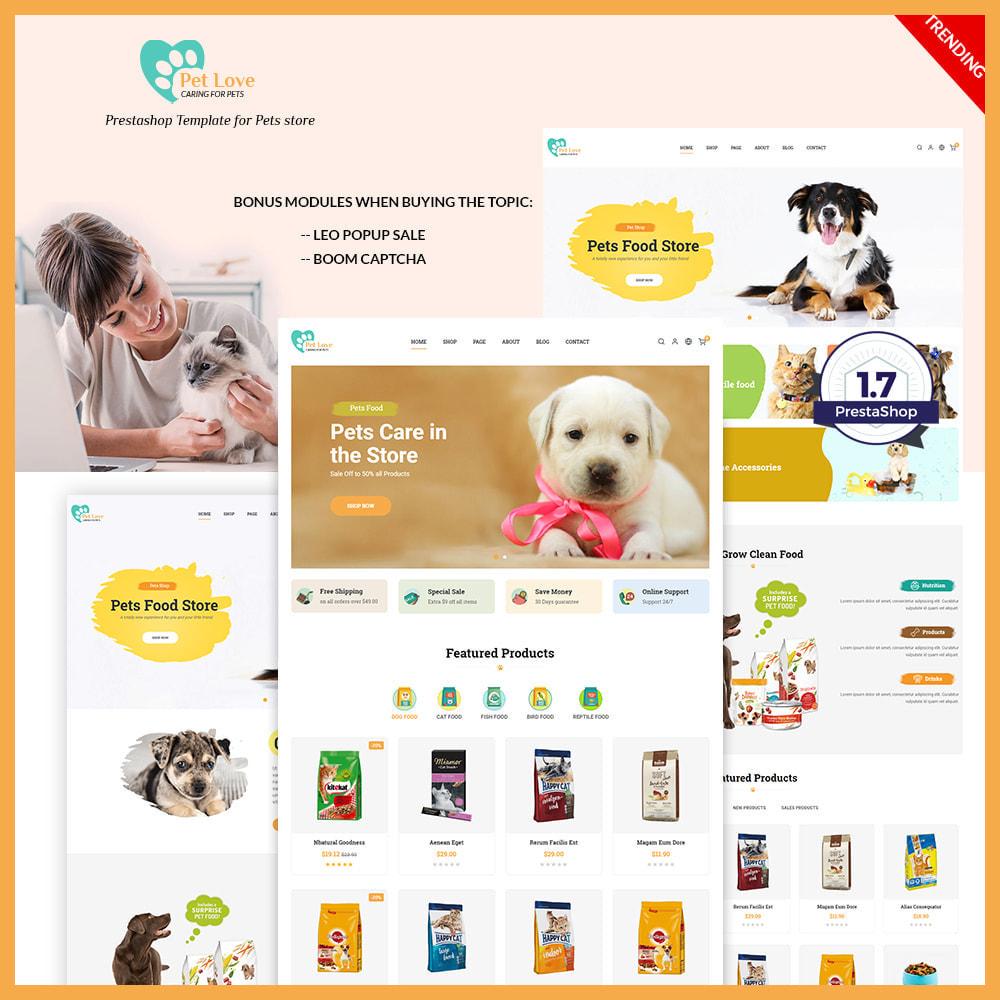 theme - Animales y Mascotas - Pet Love Store - 1
