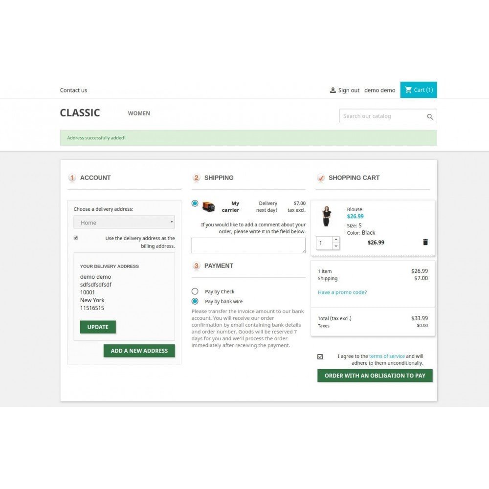 module - Express Checkout Prozesse - One Page Checkout - Responsive - 5