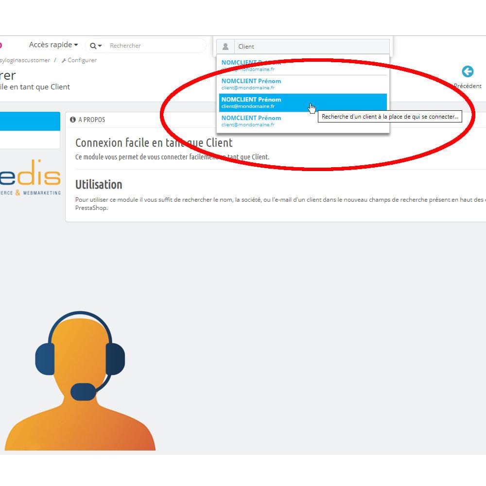 module - Inscription & Processus de commande - Connexion facile en tant que Client - 2