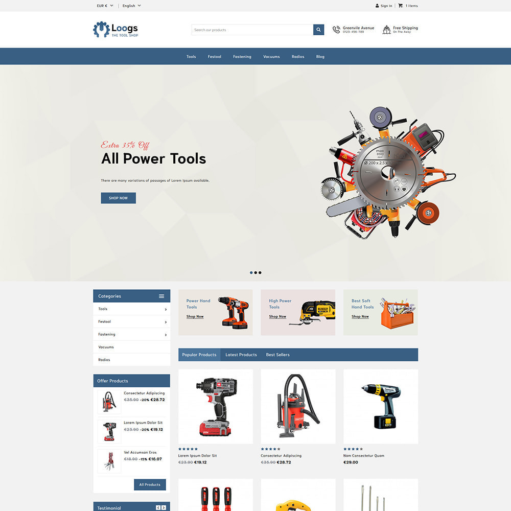 theme - Auto & Moto - Loogs Tools - 2