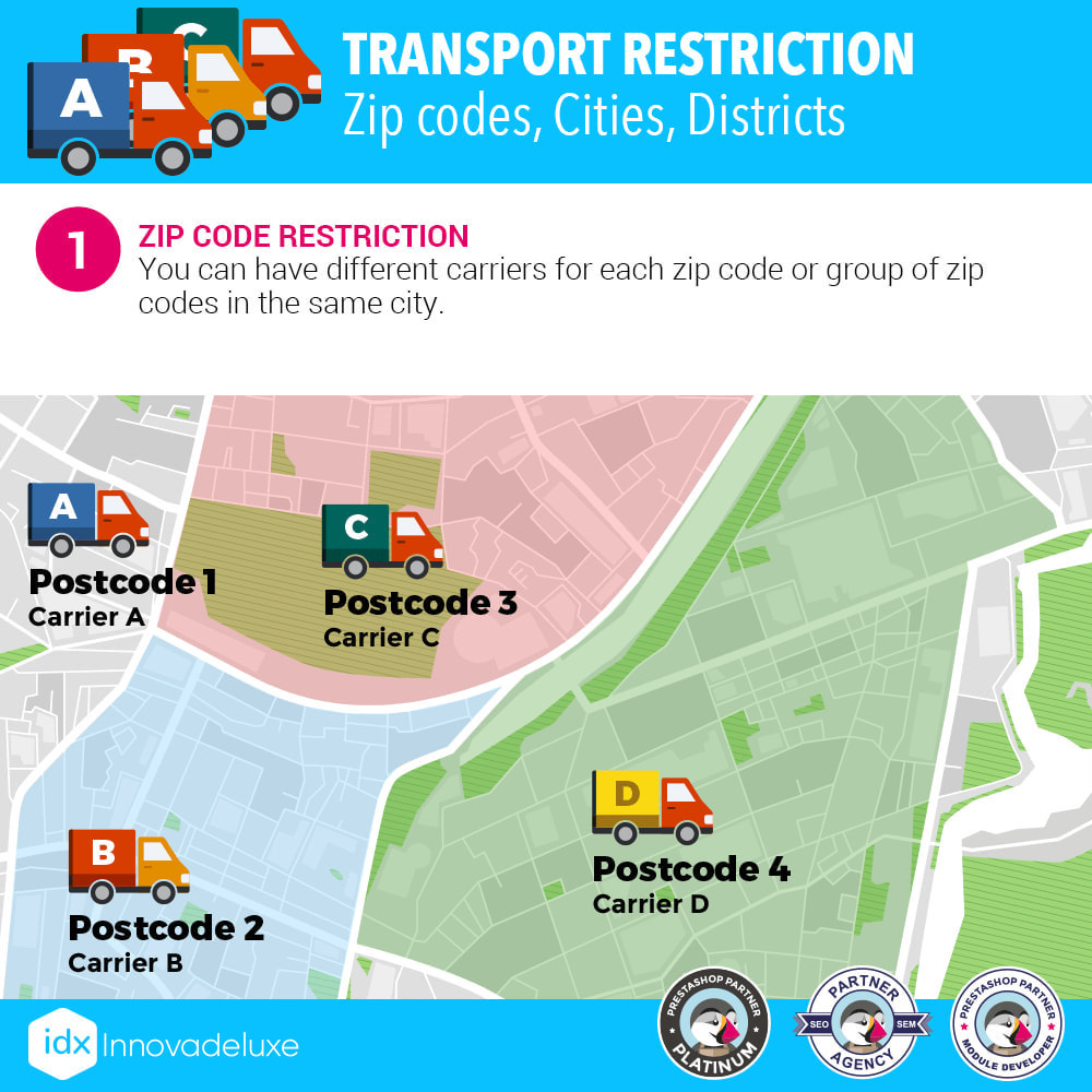 module - Transporteurs - Restricting Carriers by Zip Code, District, or City - 2