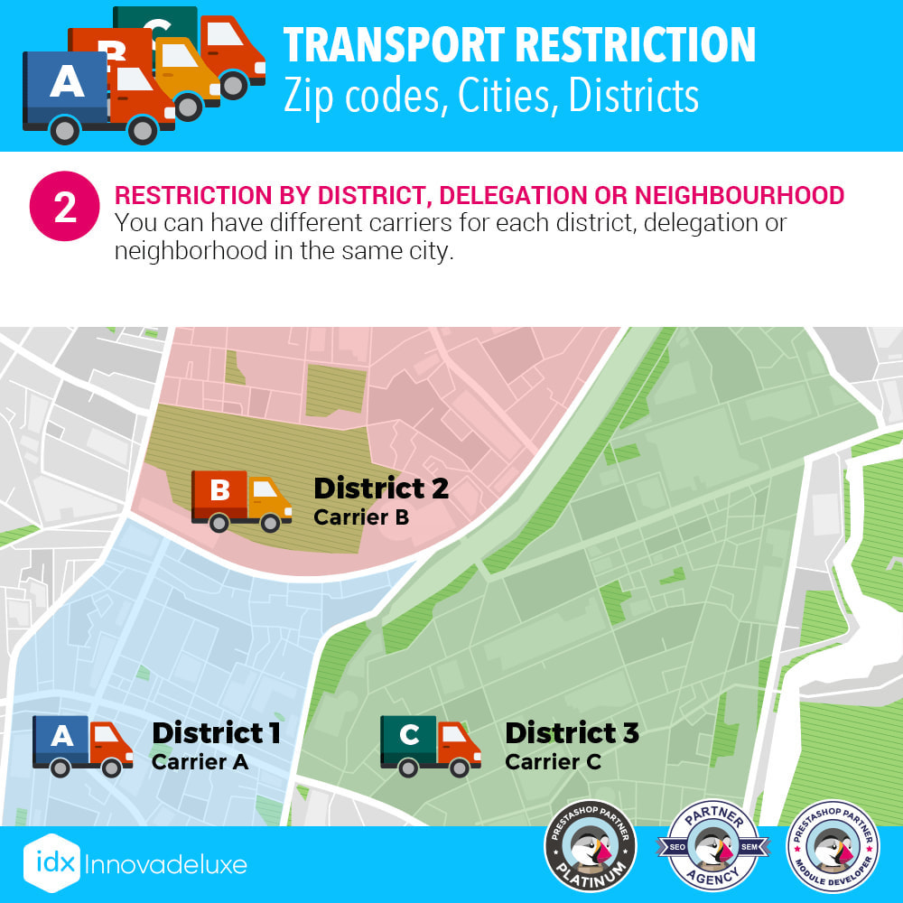 module - Transporteurs - Restricting Carriers by Zip Code, District, or City - 3