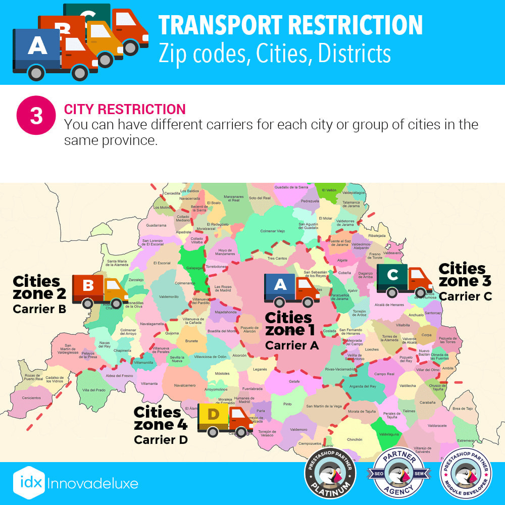 module - Transporteurs - Restricting Carriers by Zip Code, District, or City - 4