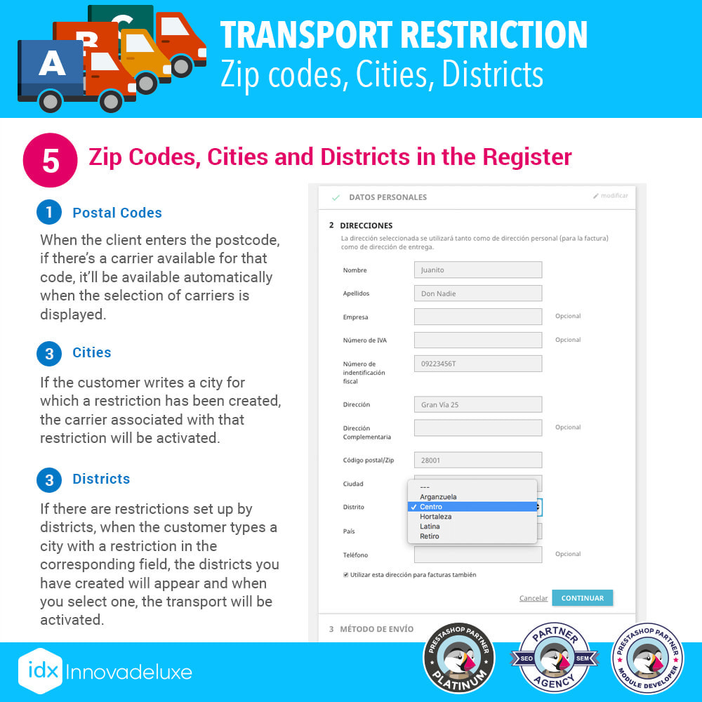 module - Transporteurs - Restricting Carriers by Zip Code, District, or City - 7
