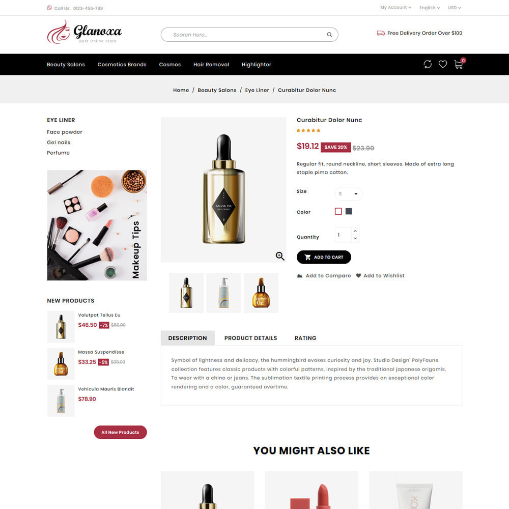 theme - Health & Beauty - Glanoxa - Cosmetic Store - 4