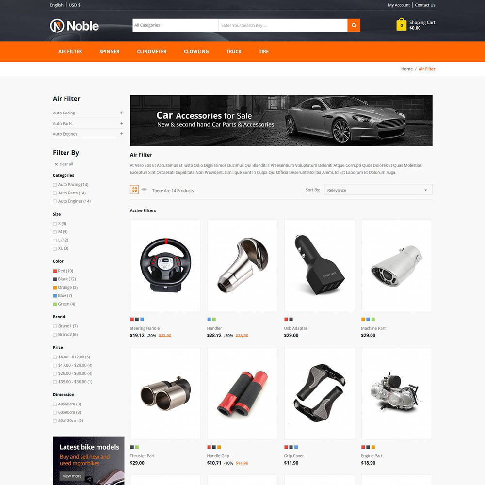 theme - Samochody - Tool Auto - Car Tools Bike Store - 3