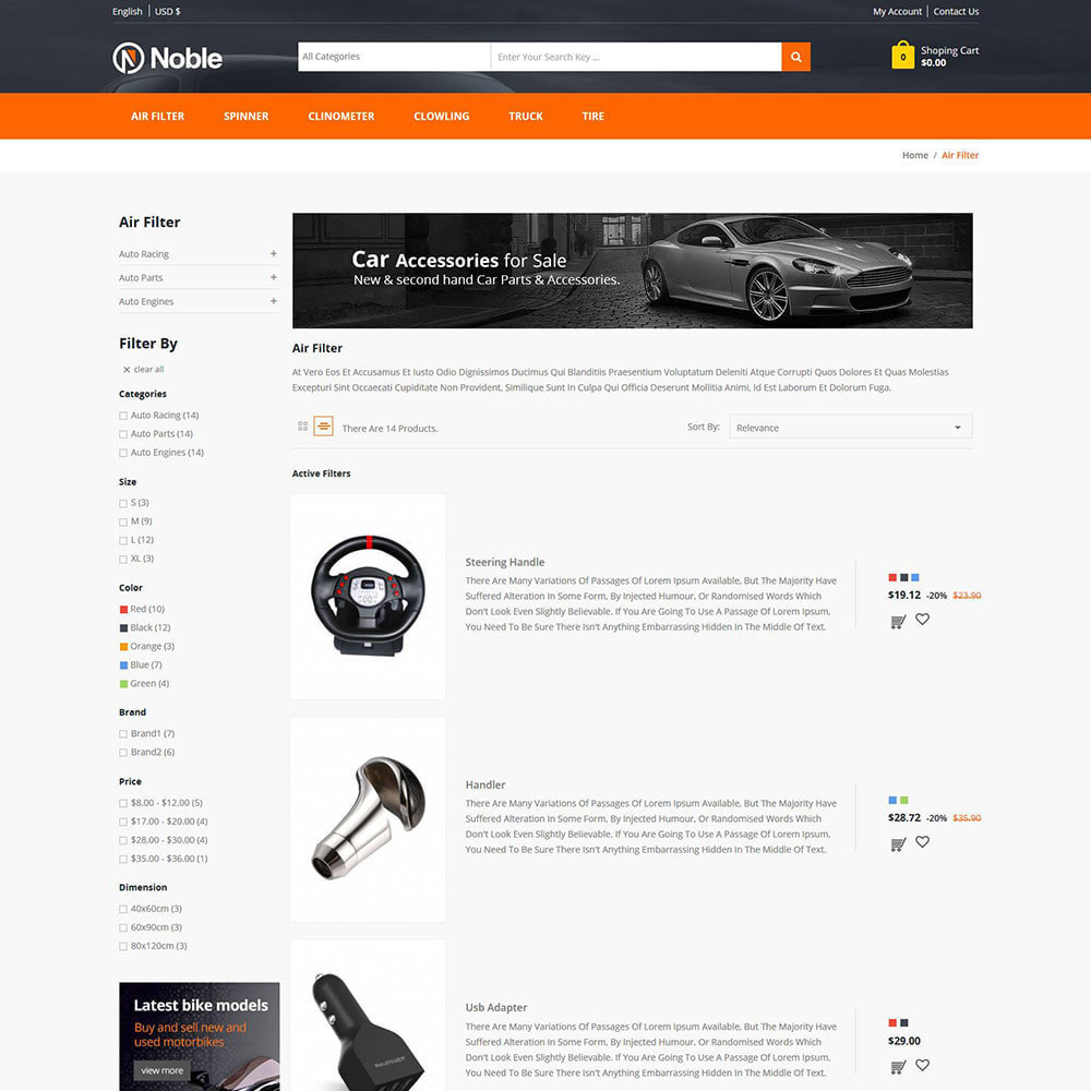 theme - Samochody - Tool Auto - Car Tools Bike Store - 4